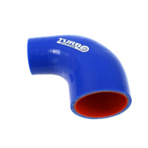Szilikon szűkítő könyök TurboWorks PRO Kék 90 fok 57-63
