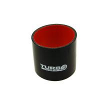Szilikon összekötő, egyenes Turboworks PRO Fekete 25mm 8cm