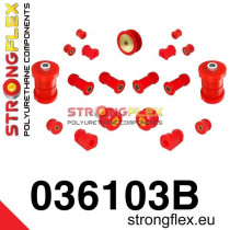Strongflex Teljes felfüggesztés szilent készlet SPORT piros BMW E30
